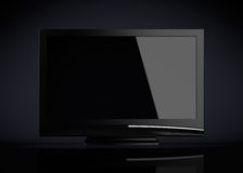 Copyspaced plasma (dark background) Royalty Free Stock Photography