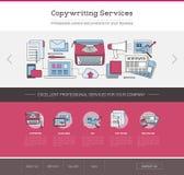 Copywriting和编辑网模板 免版税库存照片