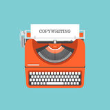 Copywriting平的例证概念 免版税库存图片