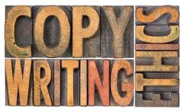 Copywriting概念在木类型的词摘要 免版税库存照片