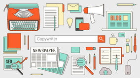 Copywriting and communications banner Royalty Free Stock Photo