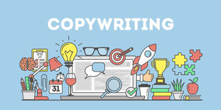 Copywriting concept illustration. Stock Photography