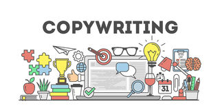 Copywriting concept illustration. Royalty Free Stock Images