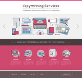 Copywriting and editing web template Royalty Free Stock Photo