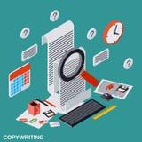 Copywriting, edytorstwo, dziennikarstwo, publikacja wektoru pojęcie ilustracja wektor