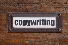 Copywriting - file cabinet label Royalty Free Stock Images