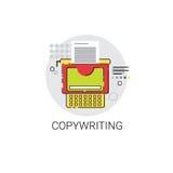 Copywriting Freelance Occupation Content Marketing Icon. Vector Illustration Stock Photo