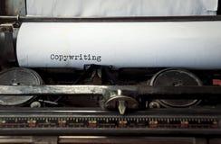 Copywriting geschrieben auf einer alten Schreibmaschine Lizenzfreies Stockfoto