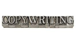 Copywriting i metalltyp royaltyfria foton