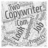Copywriting Jobs word cloud concept word cloud concept  background Stock Photography