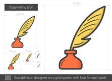 Copywriting line icon. Royalty Free Stock Photos