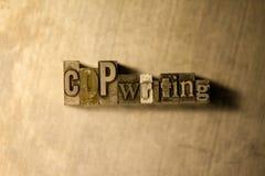 Copywriting - segno dell'iscrizione dello scritto tipografico del metallo Fotografia Stock Libera da Diritti