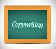 Copywriting sign illustration design Stock Photography