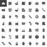 Copywriting vector icons set vector illustration
