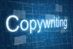 Copywriting word on digital background Royalty Free Stock Photo