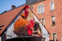 Coq - art allemand de rue - Bayreuth Photos stock