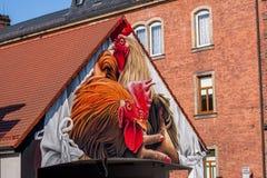 Coq - art allemand de rue - Bayreuth Photos libres de droits