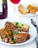Coq au vin Photos stock