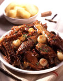 Coq au Vin Stockfotos
