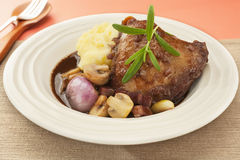Coq au Vin Chicken in Red Wine Royalty Free Stock Images