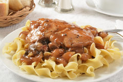 Coq Au Vin on pasta Royalty Free Stock Image