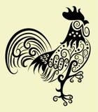 Coq décoratif illustration de vecteur