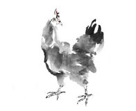 Coq d'encre illustration de vecteur
