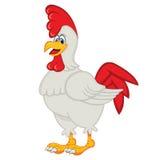 Coq de bande dessinée de poulet Images libres de droits