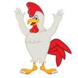 Coq de bande dessinée de poulet Photographie stock libre de droits