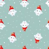 Coq de bonhomme de neige Image libre de droits