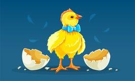 Coq de poulet de poule de bande dessin?e hach? de l'oeuf Illustration de vecteur illustration de vecteur