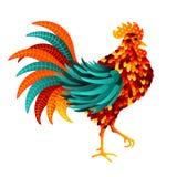 Coq de symbole de nouvelle année du Chinois 2017 illustration stock
