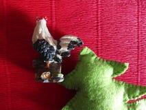 Coq et sapin Photo libre de droits