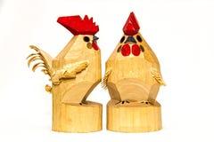 Coqs en bois Photographie stock libre de droits