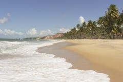 Coqueirinho海滩,康德铅,巴西 免版税库存图片