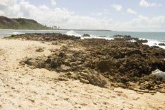 Coqueirinho海滩,康德铅,巴西 免版税图库摄影