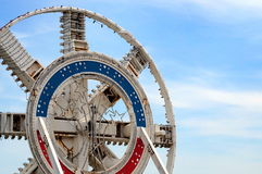COQUELLES, PAS-DE-CALAIS, FRANCE, MAY 07 2016: Channel Tunnel Drill Mechanism Stock Photography