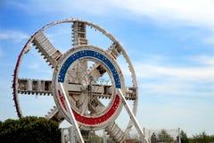 COQUELLES, PAS-DE-CALAIS, FRANKRIJK, 07 MEI 2016: Het Mechanisme van de Tunnel onder het Kanaalboor Royalty-vrije Stock Foto's
