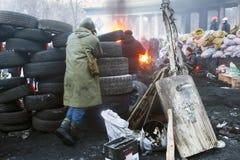 Coquetéis molotov em um saco Imagens de Stock