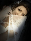 The coquettish bride Royalty Free Stock Photos