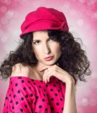 Coquettish brunette Royalty Free Stock Image