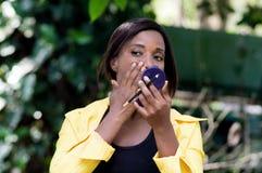 Coquettish woman . Stock Photos