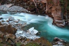 Coquihalla河急流,不列颠哥伦比亚省,加拿大 库存照片
