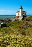Coquile灯塔,俄勒冈海岸 免版税库存图片