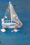 Coquillages et bateau Image libre de droits