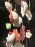Coquillages mobiles, coquilles mobiles image stock