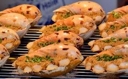 Coquille en spirale de pain grillé Image stock