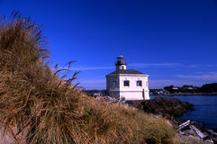 Coquille Lighthouse. Lighthouse and grasses in Bandon, Oregon Stock Photography