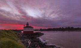 Coquille Rive Lighthouse Royalty Free Stock Photo