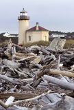 Coquille River Lighthouse Nautical Beach Landscape Stock Photography